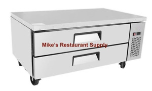 New 48 Refrigerated Chef Base Equipment Griddle Stand Refrigerator Nsf 8298