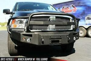 Fab Fours Winch Bumper With Full Guard In Bare Steel Dr13 H2950 B