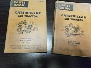Caterpillar 631 Tractor Lot Of 2 1962 63 Parts Book