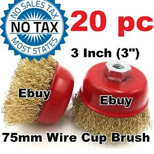 Ebuy 20pc 3 75mm Wire Brush Crimp Cup Brush For Angle Grinder