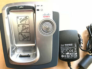 Cisco 7921 7921g Wireless Ip Phone Cp 7921g With Batteries Desktop Charger