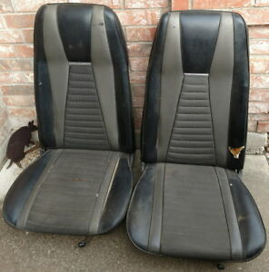 1971 Mustang Mach 1 High Back Bucket Seats Original 71 Ford
