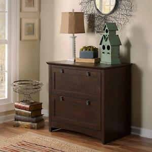 Bush Furniture My13880 03 Buena Vista 2 Drawer Lateral File Madison Cherry