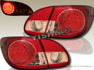 2003 2008 Toyota Corolla Red Led Tail Lights