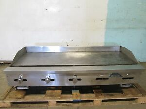 castle Heavy Duty Commercial 5 Burners Natural Gas Counter top 60 w Griddle