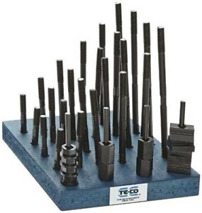 Te co 20604 38 Piece T nut And Stud Kit 3 8 16 Stud X 9 16 Table T slot