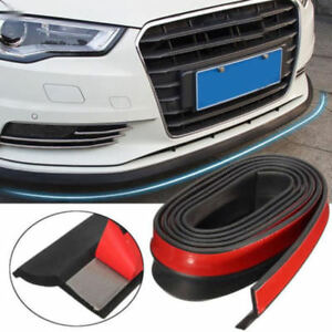 2 5m Universal Car Black Front Bumper Lip Splitter Body Spoiler Protector New