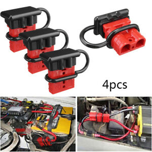 4x 50a Battery Quick Connect Disconnect Tool Winch Electric Harness Connector Jl