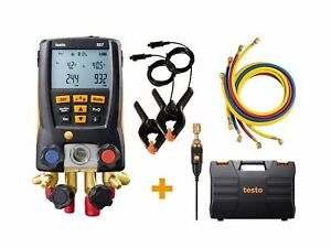 Testo 557 Digital Manifold Kit With Bluetooth And 4 Hoses