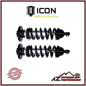 Icon Extended Travel Front Coil Over Shock Kit For 2004 2015 Nissan Titan