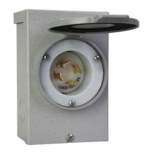 Power Generator Inlet Box 30 Amp Transfer Switch Outdoor Panel With Plug Cover