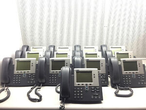 Lot Of 13 Cisco Unified Ip Phone Model 7940 Business Telephone