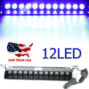 Red Blue 72 Led Warning Strobe Grill Light Emergency Car Hazard Flash Dash Lamps