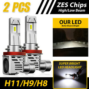 H11 h9 h8 120w Led Headlight Kit High Low Beam Bulb Super Bright 6500k 24000lm