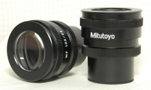 2 Mitutoyo 10x 24 30mm Eyepieces Wide Field High Eyepoint Focusable 378 856 Wf