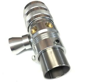 Adjustable Silver Blow Off Valve With Horn Universal Fitment Bov