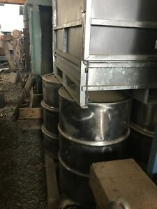 55 Gallon Stainless Steel Drums With Lids Located In Sanford Nc