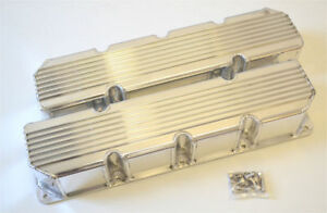 Amc jeep 290 401 Finned Fabricated Valve Covers Polished