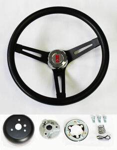 1969 1993 Olds Cutlass F85 98 442 Black Grip On Black Steering Wheel 13 1 2