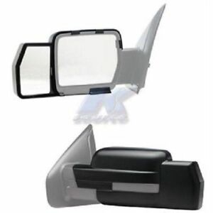 K source 81810 Towing Mirror Extension Snap on Only Set Of 2 For Ford F150 F 150