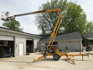 2014 Haulotte 45 27a Towable Boom Man Lift 52 Height Bil jax Made In Usa