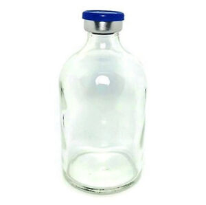 100ml Sterile Clear Glass Vial Qty 50 Free Shipping