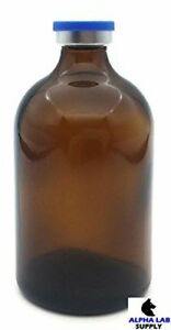 100ml Sterile Amber Glass Vial Qty 25 Free Shipping