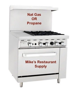 New 36 4 Burner 12 Griddle Gas Lp Range Oven Commercial Restaurant 8332