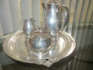 International Silver Royal Danish Sterling C353 Tea Coffee Service
