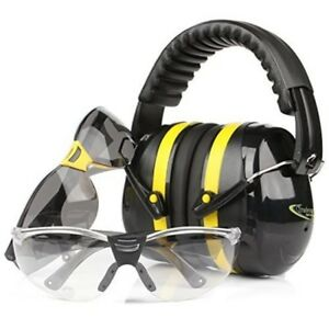 Hearing Protection Ear Muffs Shooting Range Gun Ear Plugs And 2 Safety Glasses