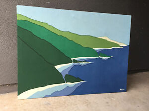 Steve Johns Big Sur Ca Tapestry Textile Wall Hanging Mid Century Modern Eames