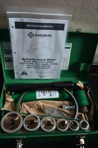 Greenlee Brand Hydraulic Stainless Steel Knockout Set Model 7506 1 2 2