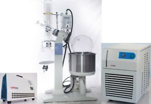 20l Rotary Evaporator Complete Turnkey Package Chiller vacuum Pump