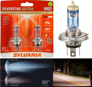 Sylvania Silverstar Ultra 9003 Hb2 H4 60 55w Two Bulbs Head Light High Low Beam