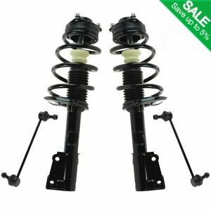 4 Piece Suspension Kit Complete Strut Spring Assembles Sway Bar End Links New