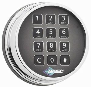 Amsec Esl10xl Digital Safe Lock In A Chrome Finish Replaces S g 6120 And Lagard