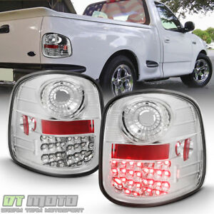 Chrome 1997 2003 Ford F 150 F150 Flareside Lumileds Led Tail Lights Brake Lamps