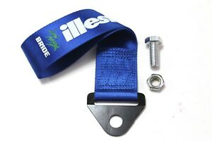 Jdm High Strength Bride Illest Tow Strap For Front Rear Bumper Towing Hook Blue