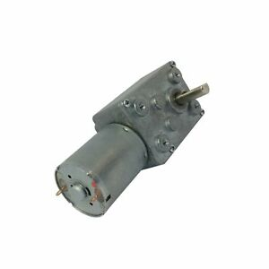 Bemonoc Reversible 12 Volt Gear Motor 24 Rpm With Worm Gearbox For Robot Parts