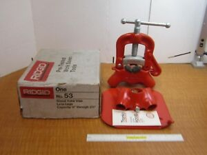 Ridgid No 53 Stand Yoke Pipe Vise 1 8 To 2 1 2 Capacity Nos Vise Only New Usa