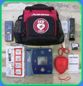 Philips With Ecg M3860a Heartstart Fr2 Good Battery Pads Aed Defibrillator