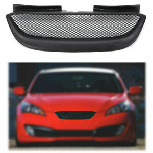 Front Hood Mesh Grill Bumper Grill Resin Fit For Hyundai Genesis Coupe 2008 2012