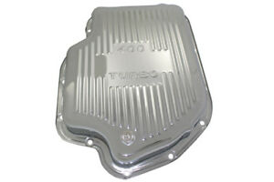 Chrome Chevy Gm Turbo Th 400 Steel Transmission Pan Shallow