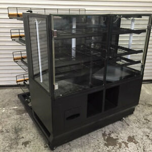 48 Dry Glass Bakery Display Case 4 Tier Retail Wire Rack 8334 Donut Bread