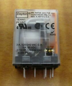 5 Square Plug In Socket Relay 8 Pins Dpdt 3 Amps 24vac 1 2 Rating 50 60 Hz New