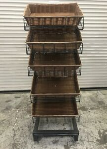 24 Wire Bakery Store Display Pan Rack Slanted Adjustable Shelf Bread Food 8347