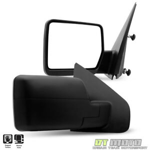 Left Right 2004 2014 Ford F150 F 150 Pickup Truck Manual View Side Mirrors Set