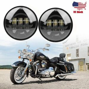 2x 4 5 30w Chrome 6x Led Spot Fog Lamp Headlight For Halley Davidson Motorcycle