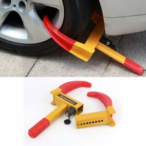 Wheel Lock Car Vehicle Clamp Boot Tire Claw Trailer Truck Anti Theft Towing H5