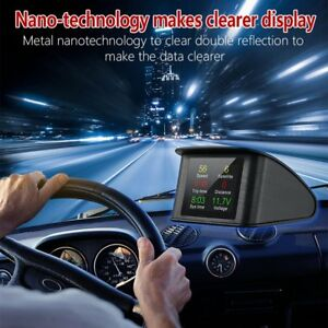 Smart On Board Driving Computer Obd Digital Speed Voltage Meter Car Hud U